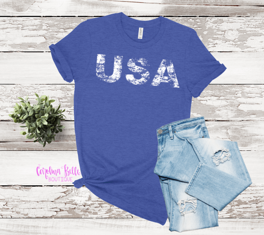 Distressed USA Graphic Tee