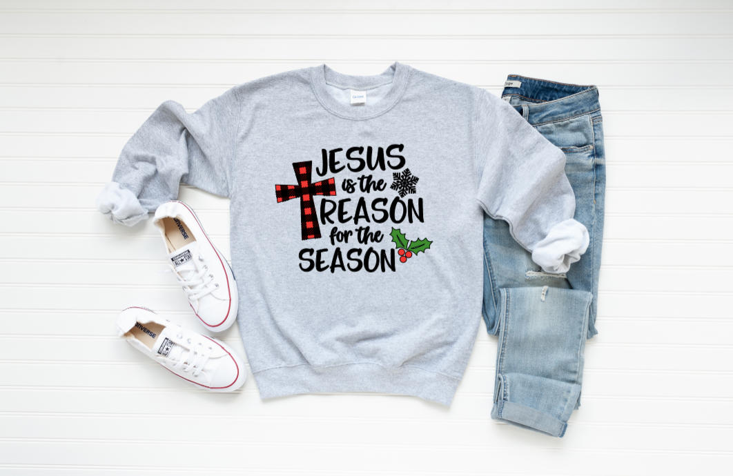 Jesus Is The Reason For The Season Graphic Sweatshirt