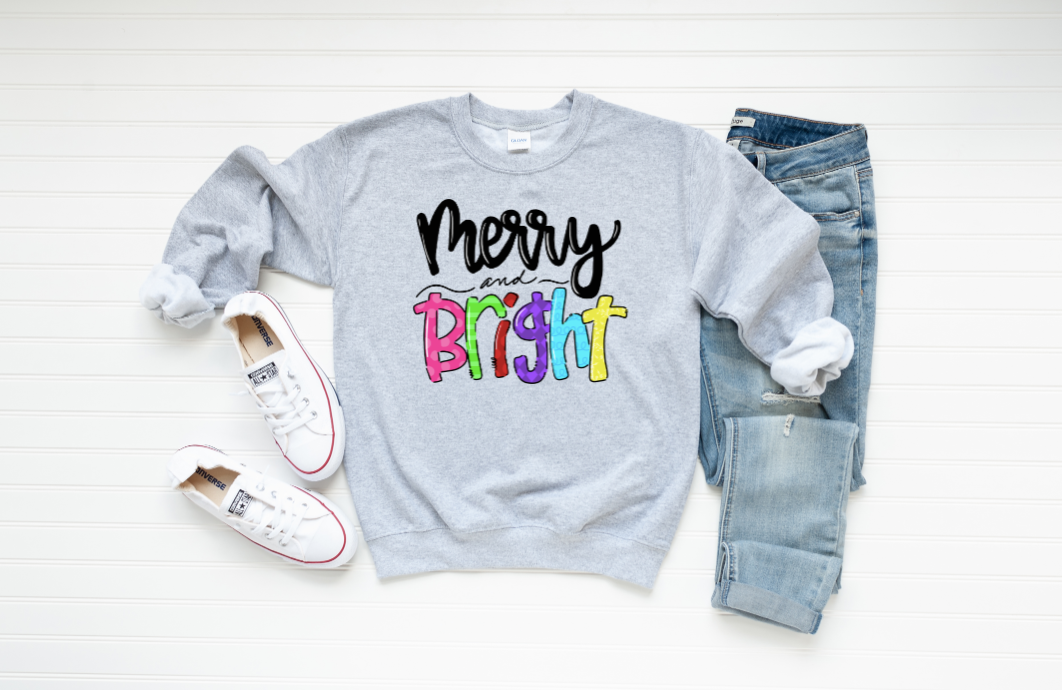 Merry And Bright Graphic Sweatshirt