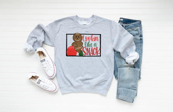 Looking Like A Snack Graphic Sweatshirt