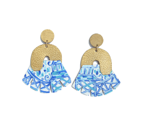 The Blue Chino- Chandelier Earrings