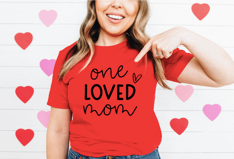 One Loved Mom Graphic Tee