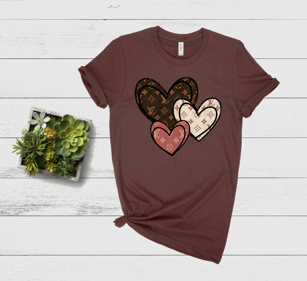 Designer Hearts Graphic Tee