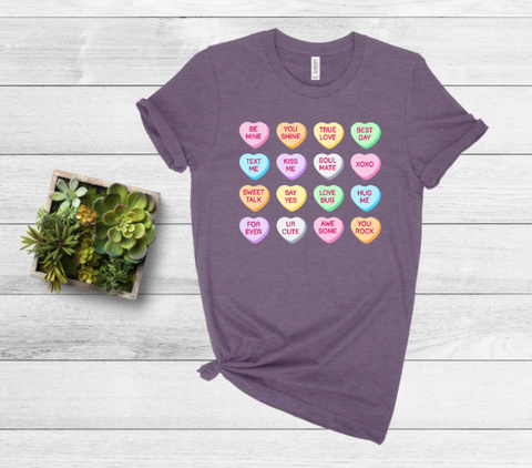 Conversation Hearts Graphic Tee