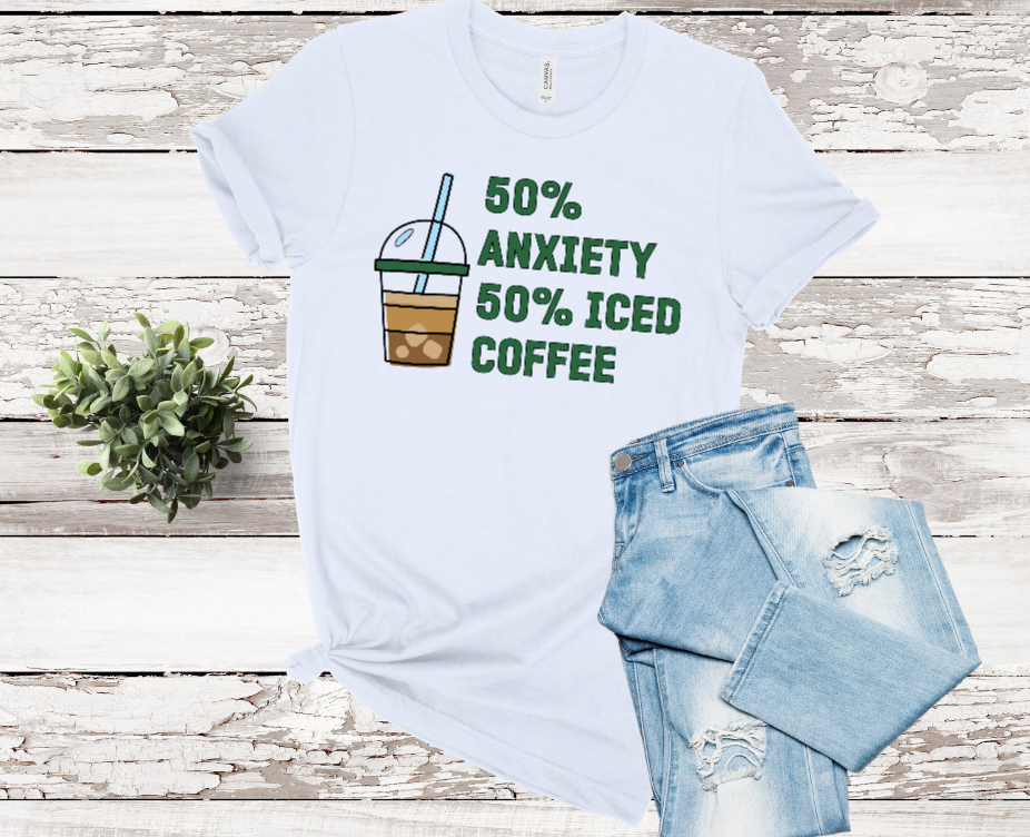 Iced Coffee and Anxiety Graphic Tee