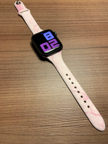 Pink Marble Apple Watch band-38/40