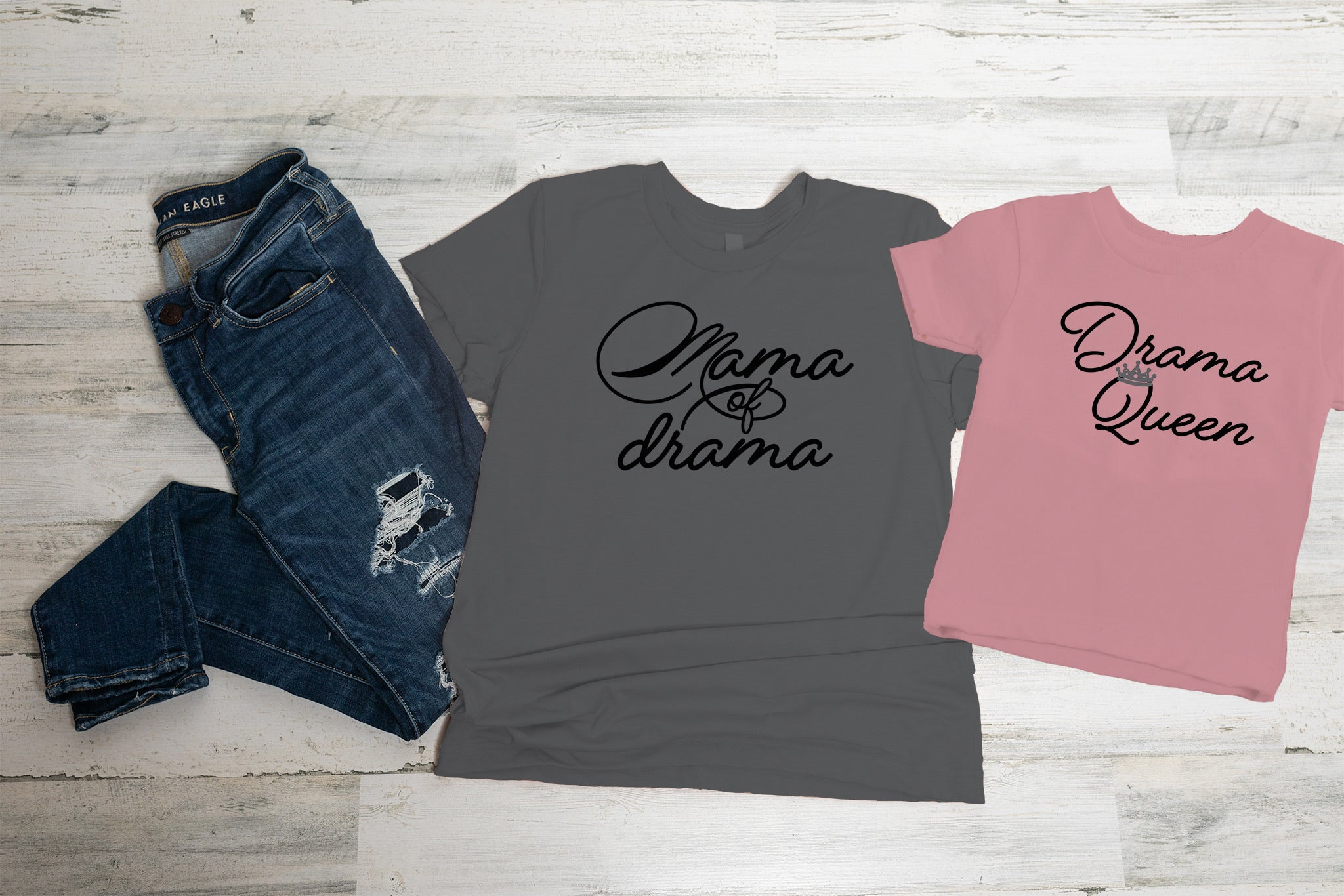 Mama of Drama Graphic Tee Set