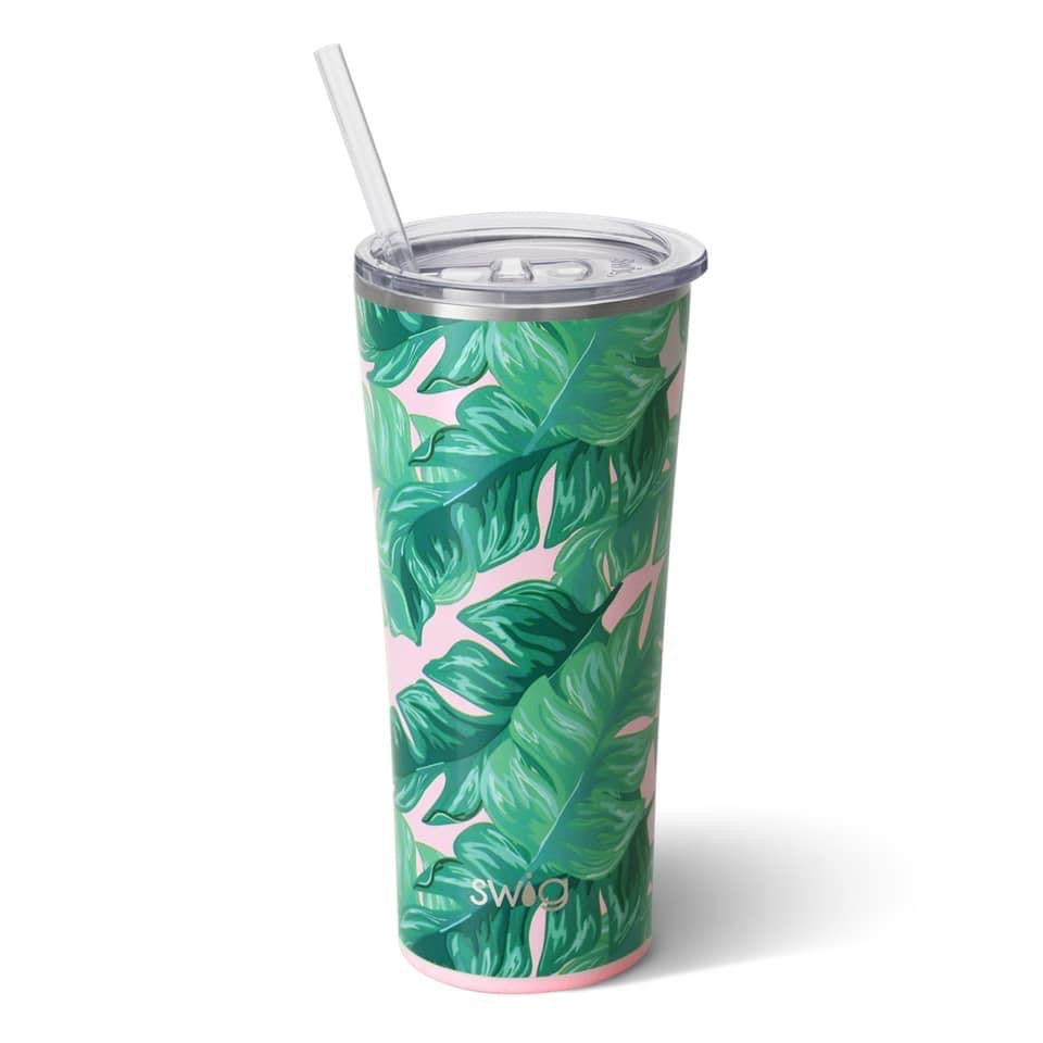 Swig tumbler- palm leaf