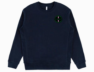 Organic Crewneck - Pink Strip Patch