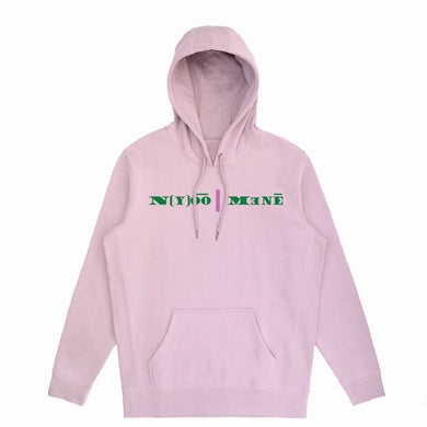 Organic Hooded Pullover - Pink Strip