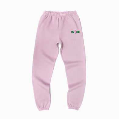 Organic Sweatpants w/ Pink Strip