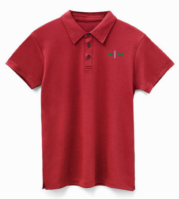 Organic Polo w/ Pink Strip ****Choose Your Design****