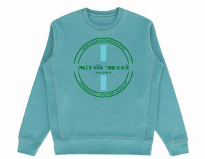 Organic Crewneck Pullover w/ Blue Strip *Choose Your Design*