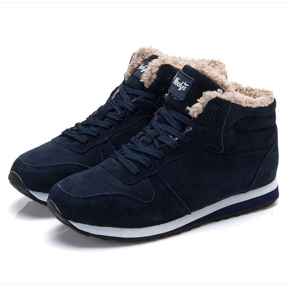 Women Winter Ankle Snow Sneakers Boots  Botas Mujer  Plus Size 35-47