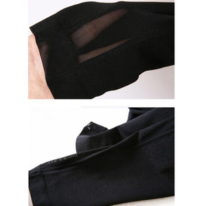 Women's High Waist Cycling Pants Skinny Jogging Workout Gym Leggings Stretch Sports Training Cropped Pants High Elasticity A1