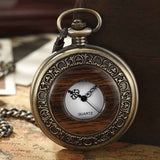 Solid Wood Mechanical Pocket Watch FOB Chain Locket Dial Hollow Steampunk Skeleton Men Women Mens Male Clock Watches Box Package