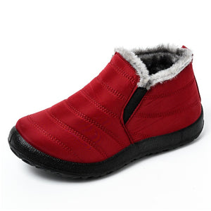 Ultralight Women Winter Waterproof Ankle Snow Boots Botas Mujer Boots Slip-On Flat Casual Shoes Plush Footwear