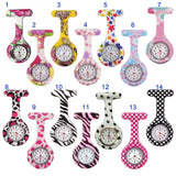 Newly Nurse Watches Printed Style Clip-On Fob Brooch Pendant Pocket Hanging Doctor Nurses Medical Quartz Watch FIF66