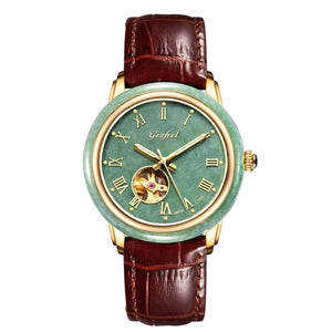 Real Mr Phil Jade Watch Gold Trainspotter Ornamental Space Mechanical Couple Table Strap Water-resistant A Undertakes