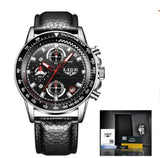 Mens Watches Top Brand Luxury Fashion Business Quartz Watch Men Sports Watch Waterproof Black Clock Relogio Masculino
