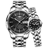 OUPINKE Top Luxury Brand Couple Automatic Mechanical Watch Waterproof Stainless Steel Watch Strap Women And Men Watch