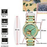 JADE WATCH LUXURY MEN'S MECHANICAL WATERPROOF WITH HIGH-GRADE BOX PACKAGING WRISTWATCH GIFT