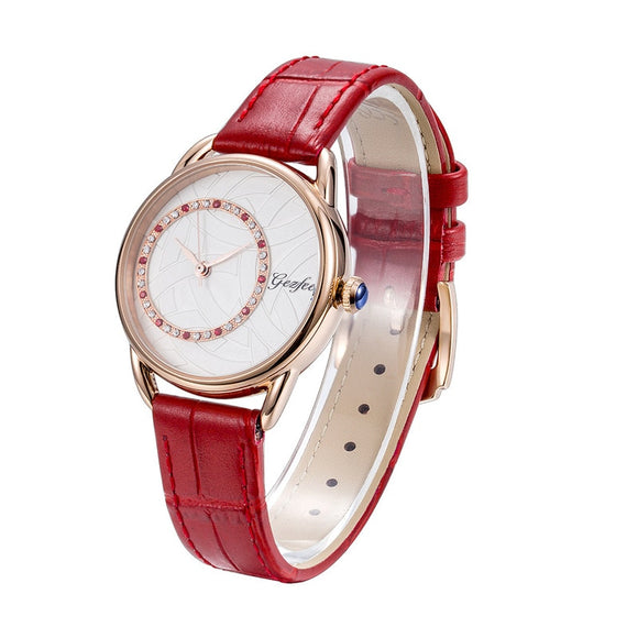 New College Fashion Simple Wind Stainless Steel Real Belt Watch Female Student Waterproof Quartz