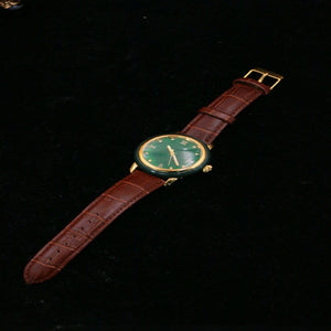 FASHION PURE NATURAL JADE WATCH MEN'S LUXURY WOMAN WATCH HETIAN JADE BUSINESS WATERPROOF LEATHER MAN WATCHES POPULAR MAN CLOCK