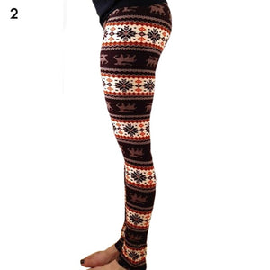 Fashion Women's HOT Leggings Pants Print High Waist Leggings Happy Christmas Party Long Pants 18 Color Ladies Xmas Trousers