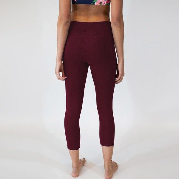 Fitness Leggings Women Work Out Side Pockets Polyester Solid High Waist Trousers Elasticity Lady's Legging Ninth pants