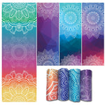New Product Yoga Blankets Women Gym Dance Fitness Non Slip Yoga Mat Towel Printing Sport Exercise Pilates Workout Soft Towel