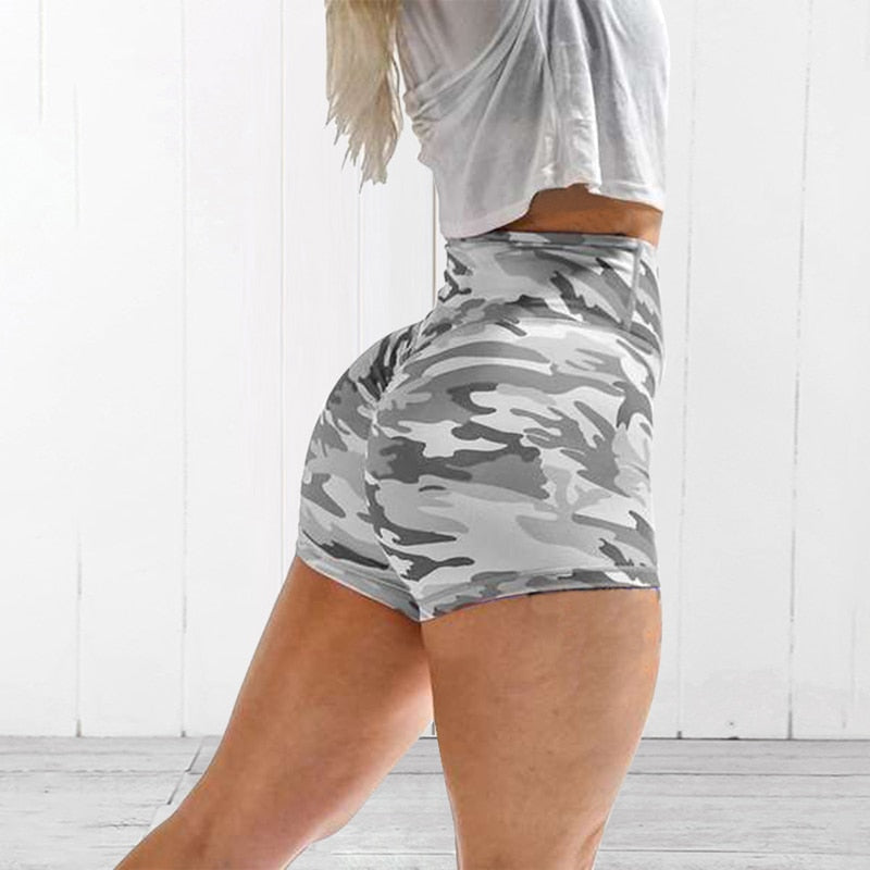 Women Yoga Sport Running Shorts Leggings Camo Stretch Trouser Yoga shorts Running Short Fitness Clothes Jogging Workout Shorts