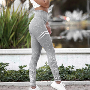 Workout Leggins Mujer Mesh Printed Leggings Sexy Fitness Sporting Elastic Slim Pants For Women Clothing Push Up