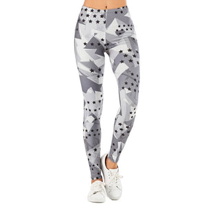 Brand Sexy Women Legging leaf Printing Fitness leggins Fashion Slim legins High Waist Leggings Woman Pants