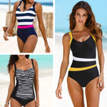 2020 New One Piece Swimsuit Plus Size Swimwear Women Classic Vintage Bathing Suits Beachwear Backless Slim Swim Wear M~2XL