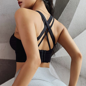 Plus Size Sports Bra Shock Proof Gathering High-Intensity Yoga Underwear Fitness Bra Sporty Woman Fitness Top Sexy Pitted Bra