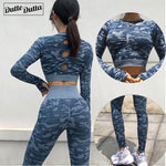 New 2 Piece Seamless Gym Clothing Yoga Set Fitness Workout Sets Yoga Out fits For Women Athletic Legging Women's Sportswear suit