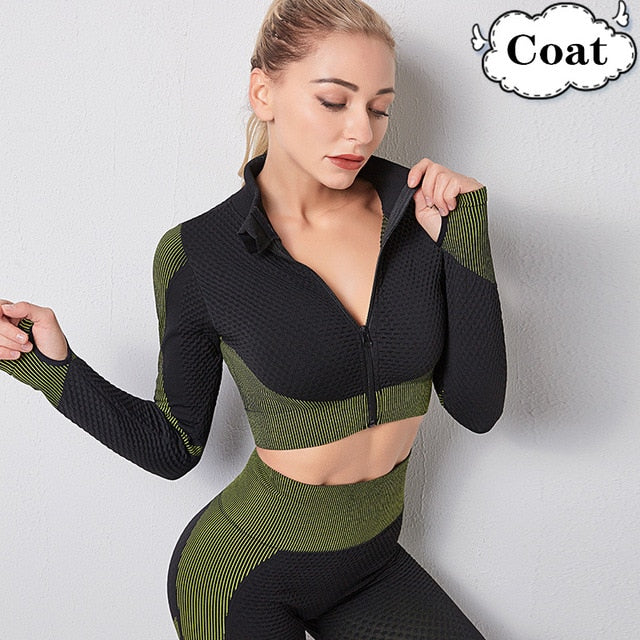 Gym Set Women Work Out Clothing Women Gym Clothing Yoga Set Hip Lift Fitness Sports Yoga Wear Seamless Female Sports Fitness bra