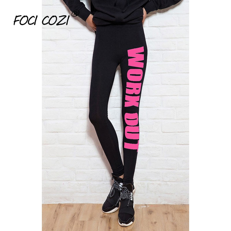 NEW STORE Summer Clothing Women Printed Leggings Letter Work Out Activewear Spandex Cotton Leggings Joggers Gym Leggings Fitness