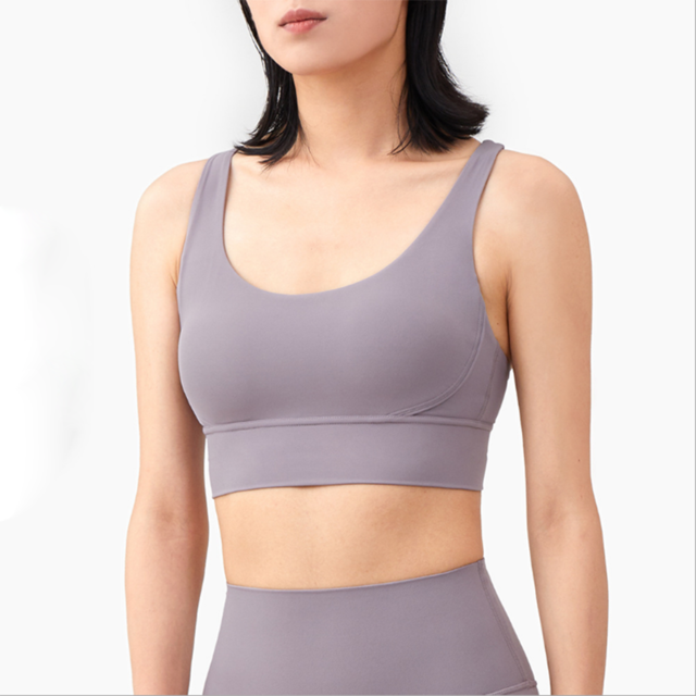 Vnazvnasi 2020 New Fabric Nylon Breathable Women Yoga Tops Bra Solid Color And Sexy Sports Wear Outdoor Exercise Clothes