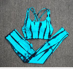 2PC Seamless Women Yoga Set Workout Sportswear Gym Clothing Fitness Clothes Sports Bra High Waist Leggings Sports Suit  2020