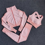 Women Thickness Seamless Yoga Set Sportswear Fitness Sport Gym Running Yoga Suit 2Pcs Sports Bra+Leggings Outfit Suit Activewear