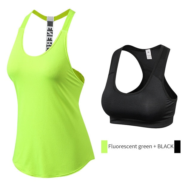 Yuerlian Quality 15% spandex Fitness Sports Yoga Shirt Quickly Dry Sleeveless Running Vest Workout Crop Top Female T-shirt