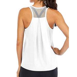 LOOZYKIT Yoga Vest Women Running Shirts Sleeveless Gym Tank Top Sportswear Quick Dry Breathable Workout Tank Top Fitness Clothes