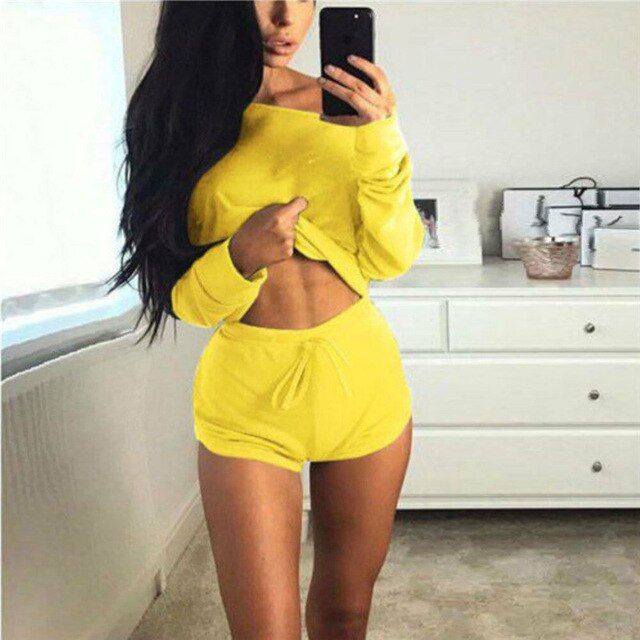 Fashion Casual Solid Slim Women 2Pcs Yoga Suit Workout Gym Running Sports Bra Legging Pants Athletic Set Summer Clothes