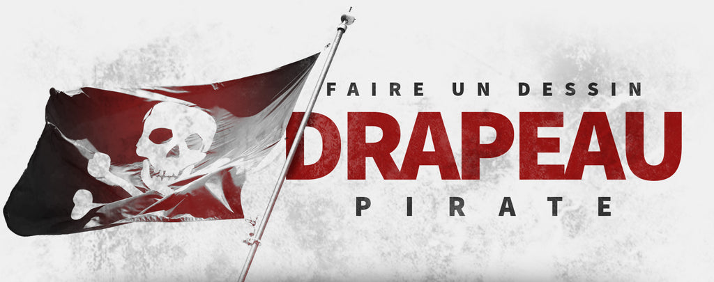 Faire un Dessin Drapeau Pirate