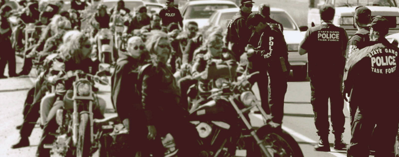 Gang bikers américains