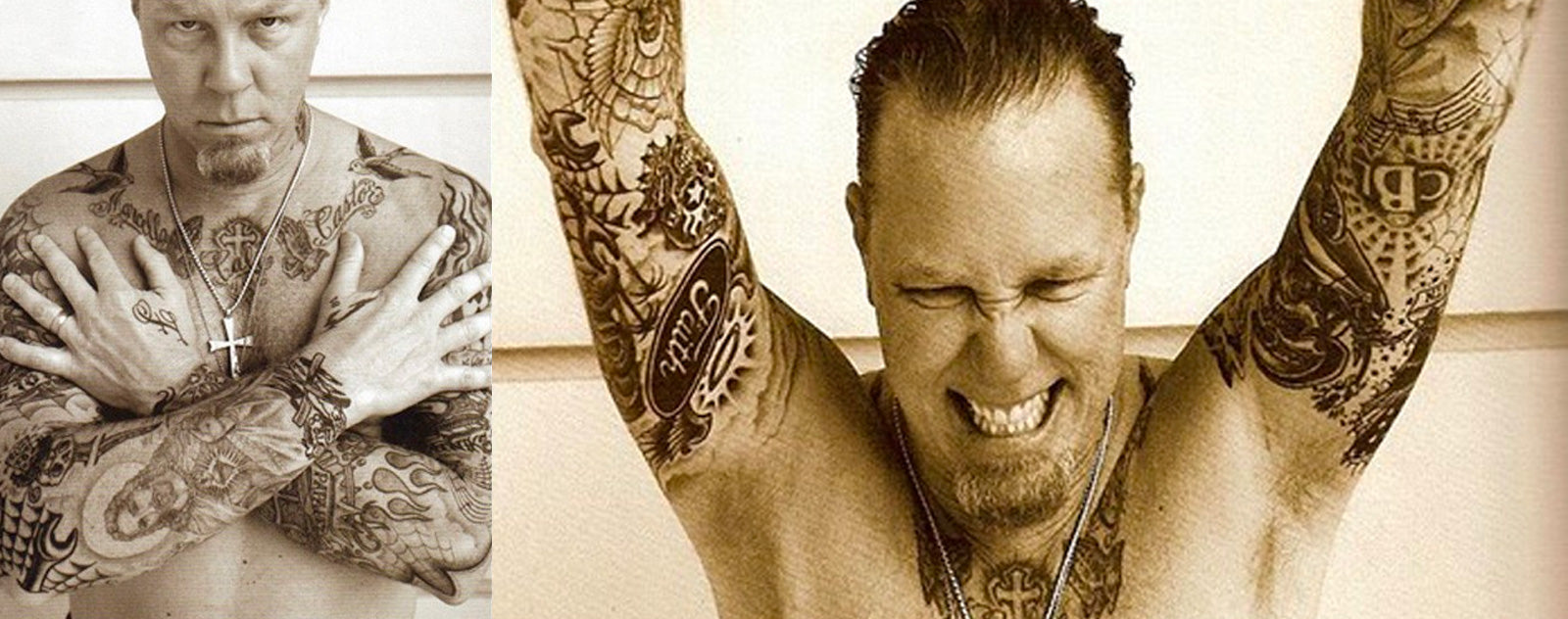 James Hetfield tatoos