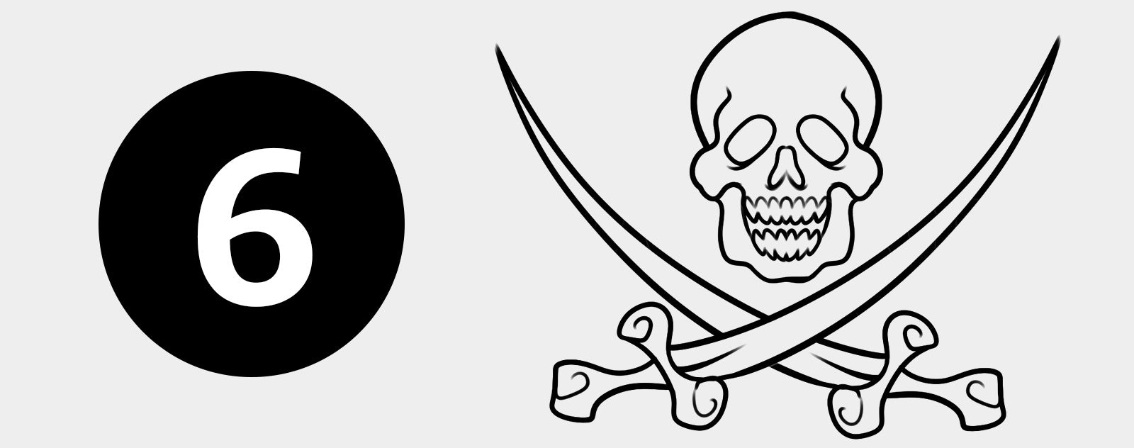 Dessin drapeau pirate