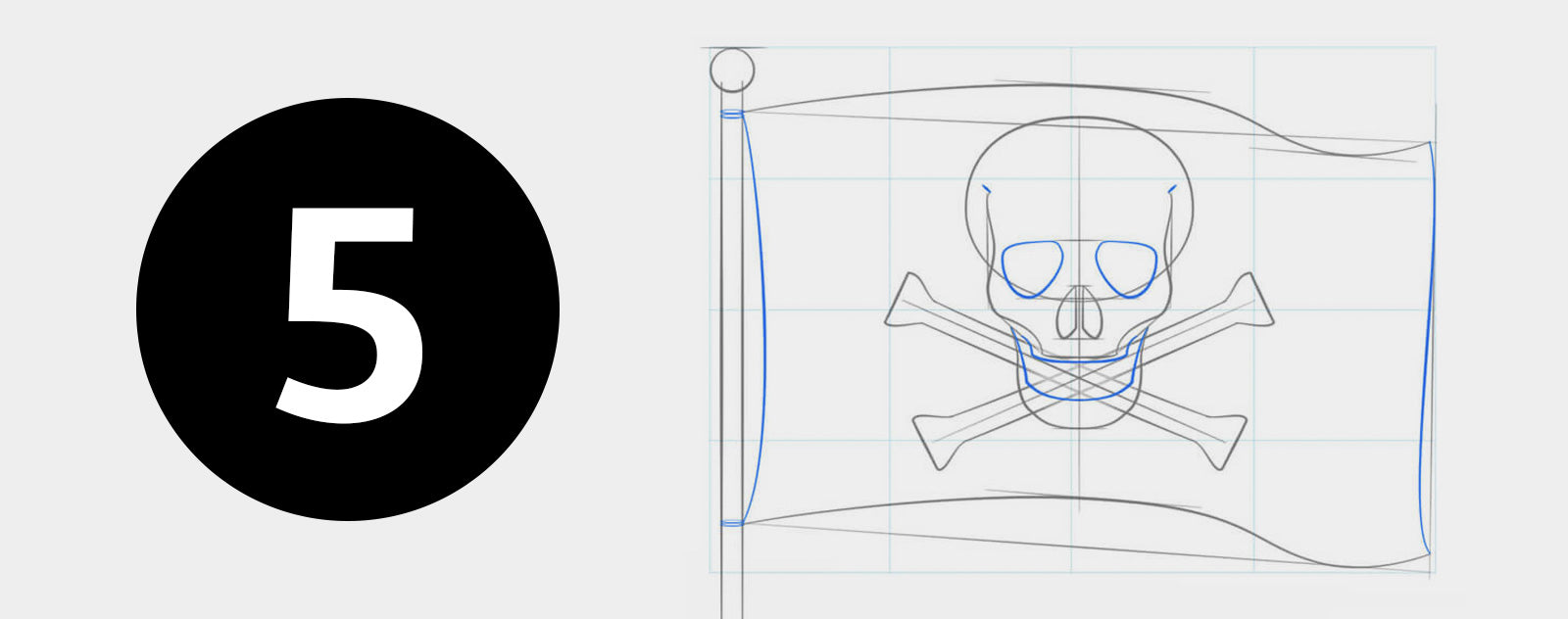 Dessiner facilement un pirate